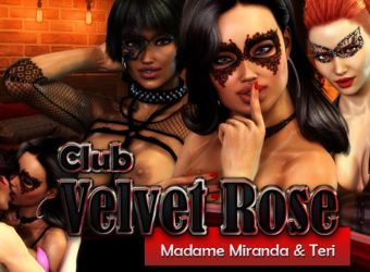 Porno Browser Flash Spiel namens Club Velvet Rose
