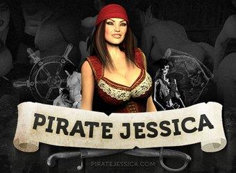 3D Monsterporno der Pirate Porno Spiel mit Piraten Jessica gefickt