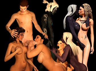 XXX Monster Sex Animationen mit sexy Elf Prinzessin