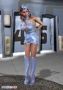 Unglaublich sexy sirl blaue uniform